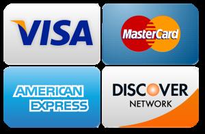 Major Credit Card company logos