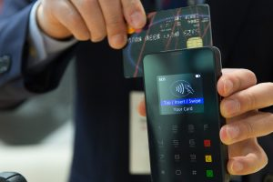 Credit card payment processor in action