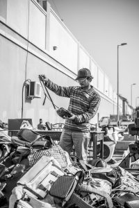 A Booster Club Garage Sale Fundraiser In Progress