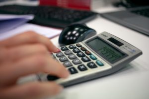 Entering items into a business budget