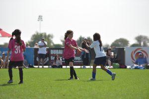 A kids soccer team hosting an open practice fundraiser