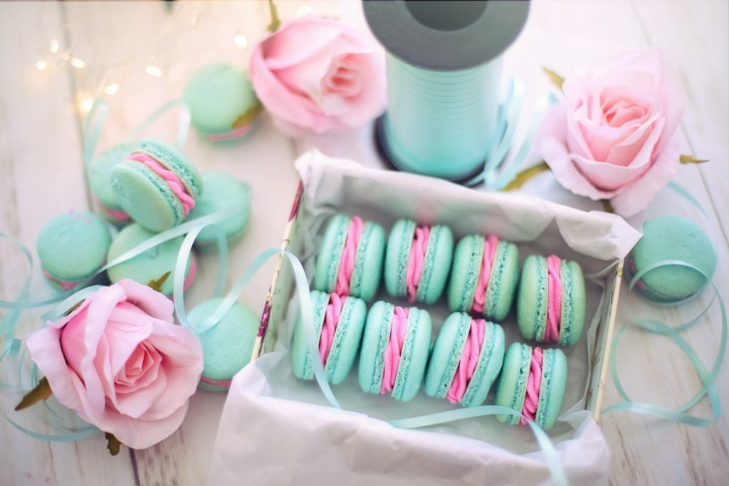 Macaroons for an online bake sale fundraiser