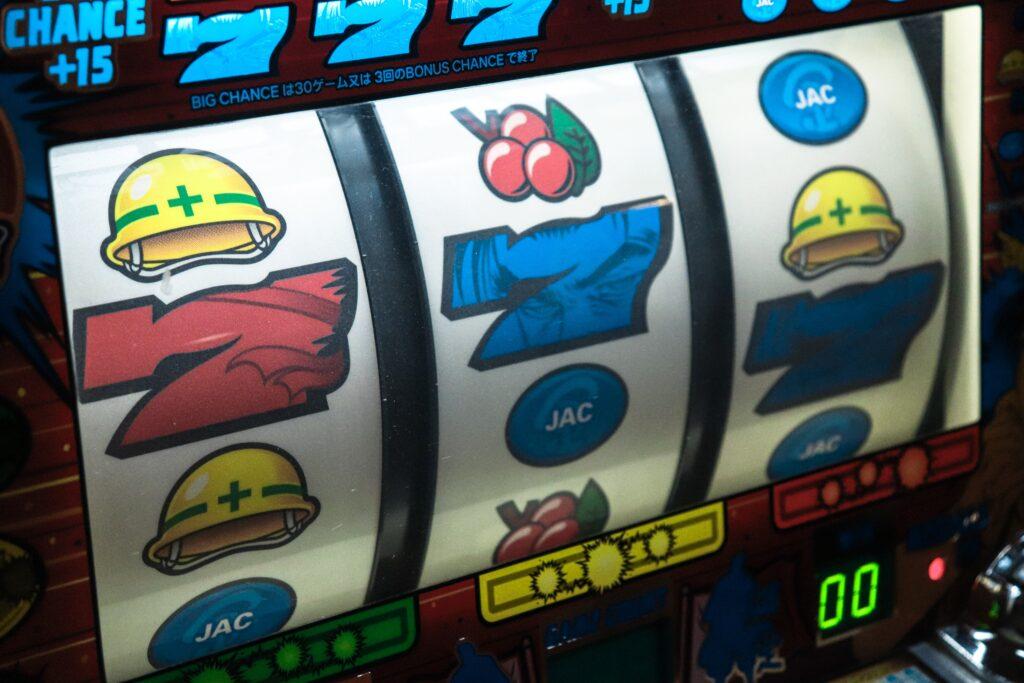 Slot Machine at a booster club casino night fundraiser