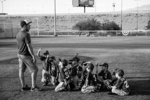 Coach of a youth baseball team.