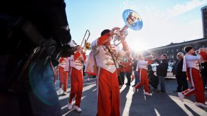 Marching band uniforms, instruments and supply items booster clubs pay for.