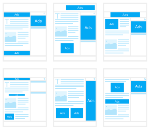 Diagram of various email newsletter layouts.